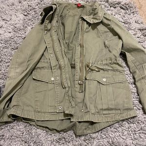 H&M Divided Green Utility Jacket